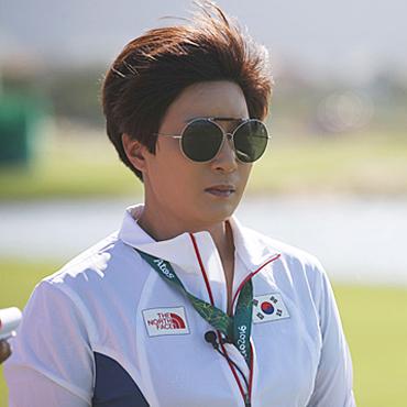 女골프 숨은 주역…금메달 조련사 박세리 '임무완수'
