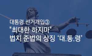 [마부작침] 대통령 선거개입 ③ : '최대한 하지마' 법치 준법의 상징 '대.통.령'
