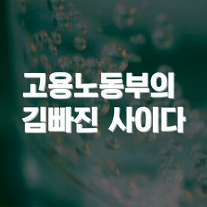 고용노동부의 김빠진 사이다