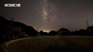 [비디오머그] 밝혀지는 우주의 비밀?…中, 세계 최대 전파망원경 시험가동