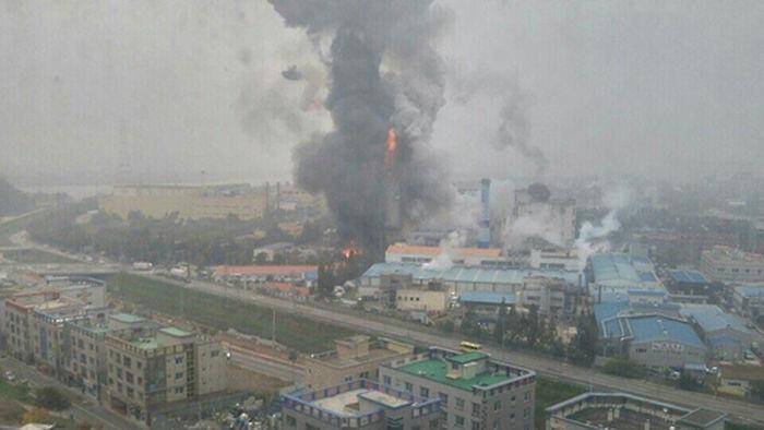 기사 대표 이미지:구미공단 스타케미칼 공장 철거 중 폭발·화재…1명 사망