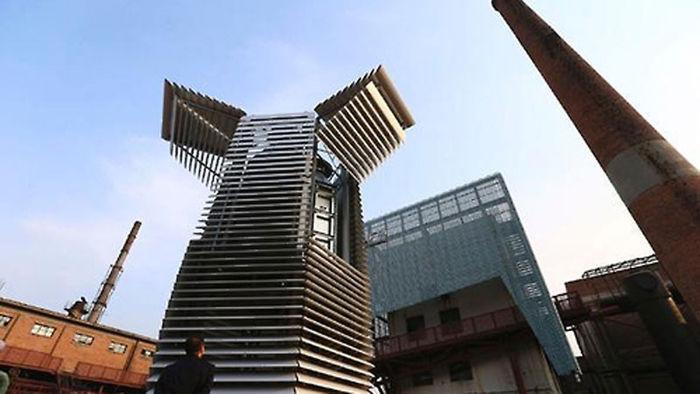 기사 대표 이미지:스모그 몸살 中 베이징, 세계 최대 공기정화탑 첫 선