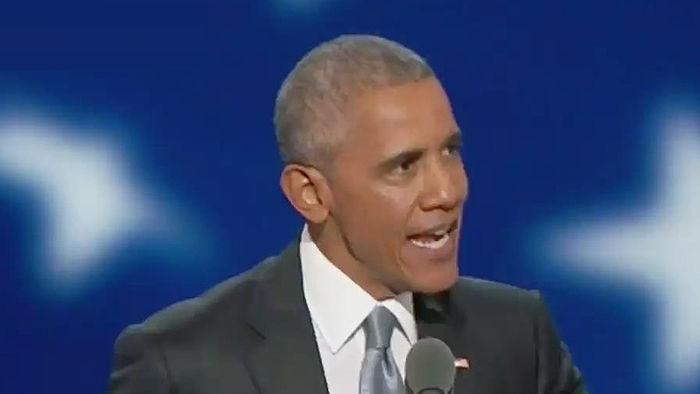 """기사 대표 이미지:오바마 마지막 주례연설 """"우리 모두 민주주의 수호자 돼야"""""""