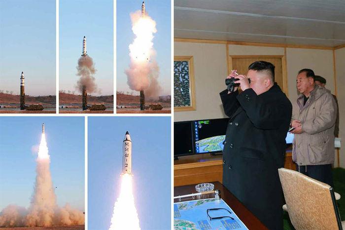 신형 고체로켓 중거리 탄도미사일 '북극성 2형'