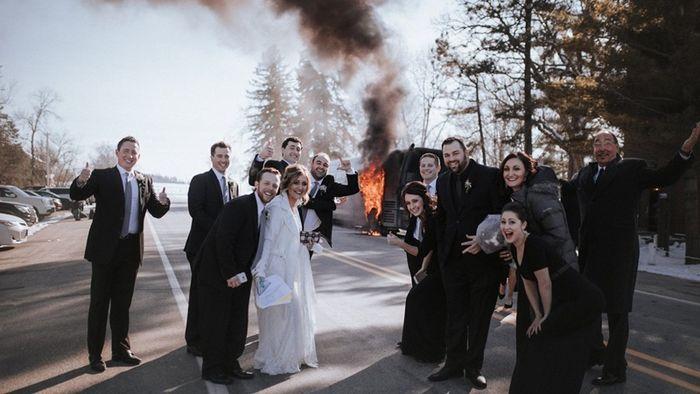 버스 화재 결혼식