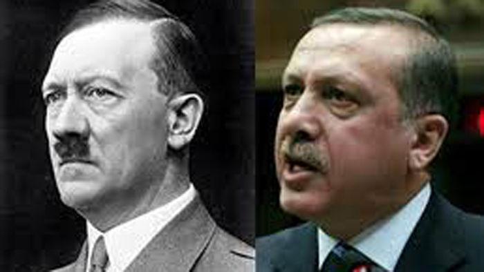 히틀러<좌>와 에르도안<우>, 독재자와 독재자가 되길 원하는 사람