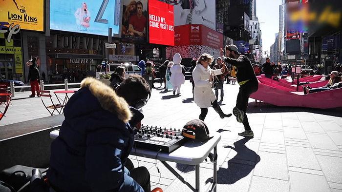 뉴욕 도심서 댄스열전