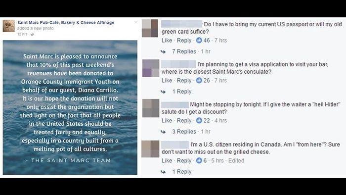 인종차별 식당 대응과 반응