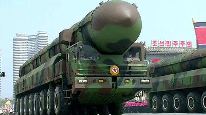북한 ICBM 추정 신형 미사일