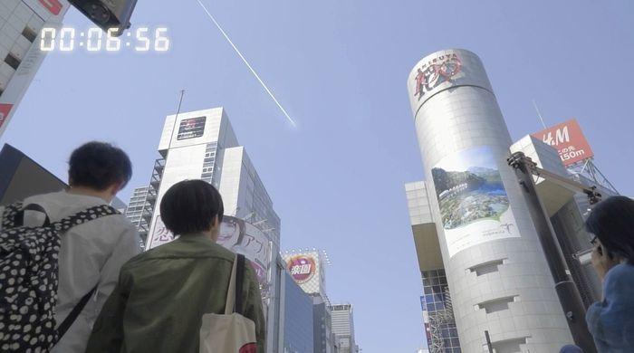 北 핵미사일 공격 가상 영상-낙하 7초 전 시부야 하늘
