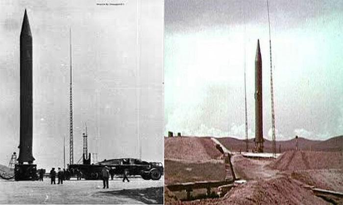 구 소련 미사일의 고정식 지상 발사장치