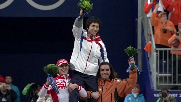 2010 밴쿠버 동계올림픽 당시 목말 태워주는 밥데용