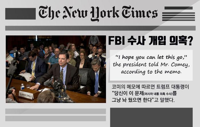 뉴욕타임스 코미 메모 폭로