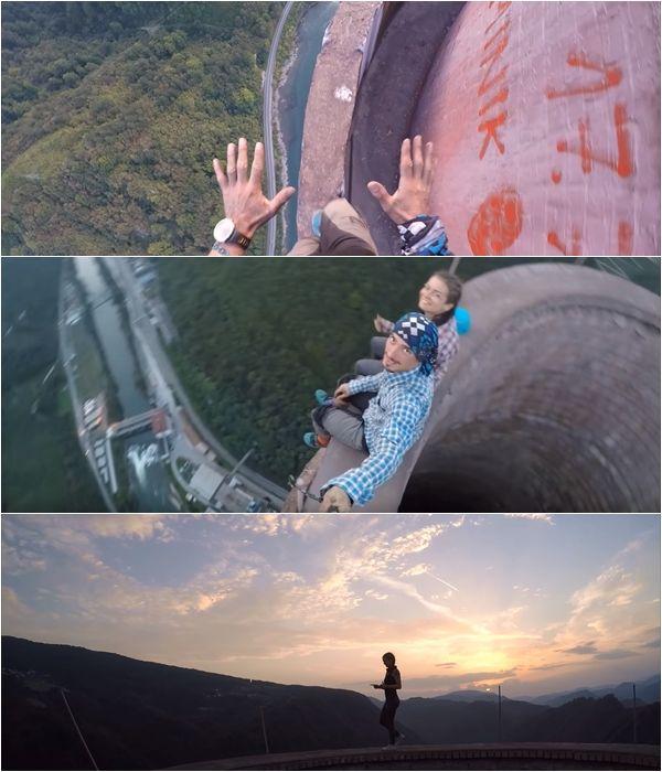 유럽에서 가장 높은 굴뚝에 올라가 아찔하고 이색적인 데이트를 하는 남녀