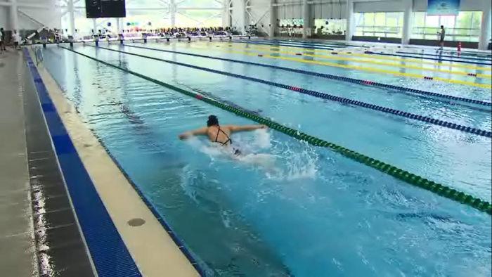 17명의 경영 대표 선수 중 3명만 훈련 중인 진천 수영장