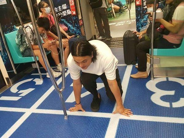 타이완 타이베이시가 하계 유니버시아드 개최를 맞아 지하철을 경기 종목 테마로 꾸몄다.