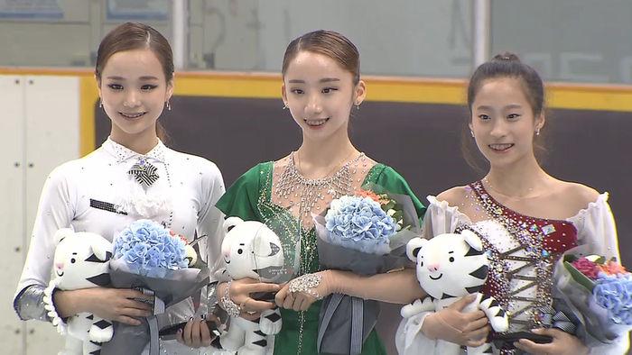 '리틀 김연아'3총사. (왼쪽부터) 임은수(14세), 김예림(14세), 유영(13세)