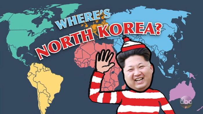 '세계지도에서 북한을 찾아보세요!