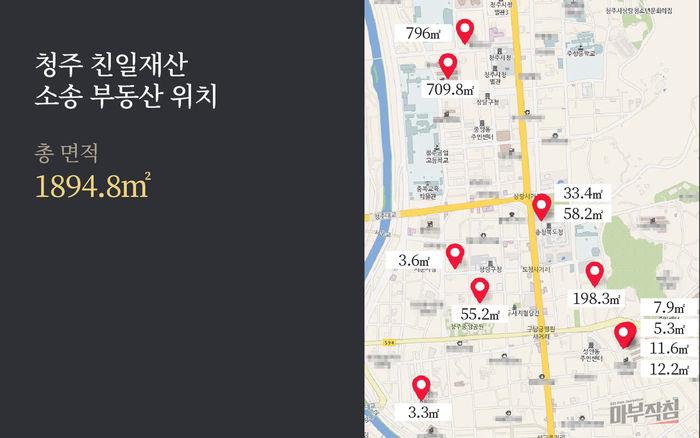 [마부작침] 친일재산_청주 친일재산 소송 부동산 위치