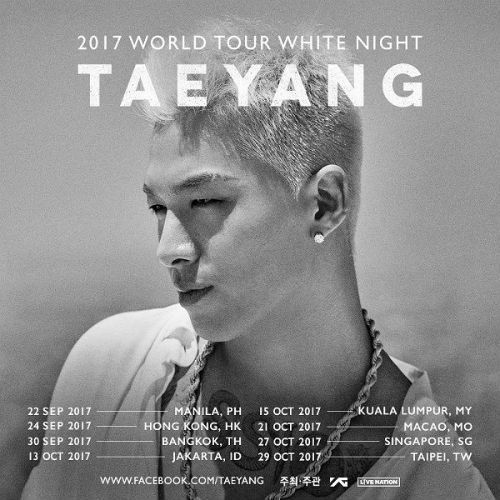 [SBS Star] TAEYANG Adds 8 More Cities to His World Tour