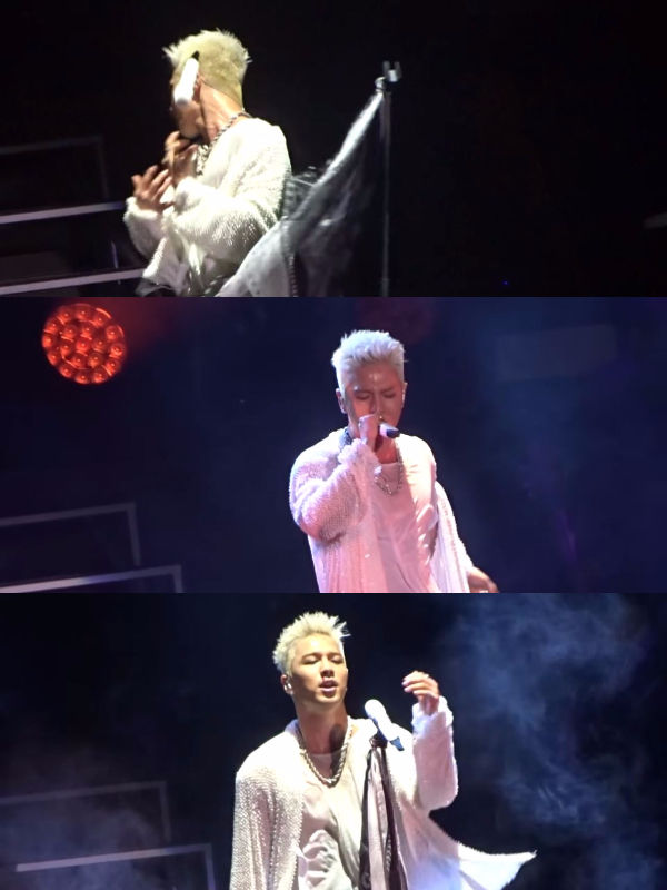TAEYANG Bleeds During His Performance; Showing True Professionalism