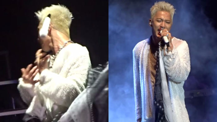 기사 대표 이미지:[SBS Star] TAEYANG Bleeds During His Performance; Showing True Professionalism