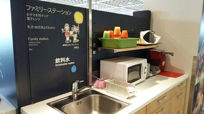 일본 이케아의 '패밀리 스테이션' 코너