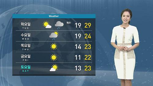 메인이미지:[날씨] 남부 미세먼지 나쁨…30도 안팎 늦더위