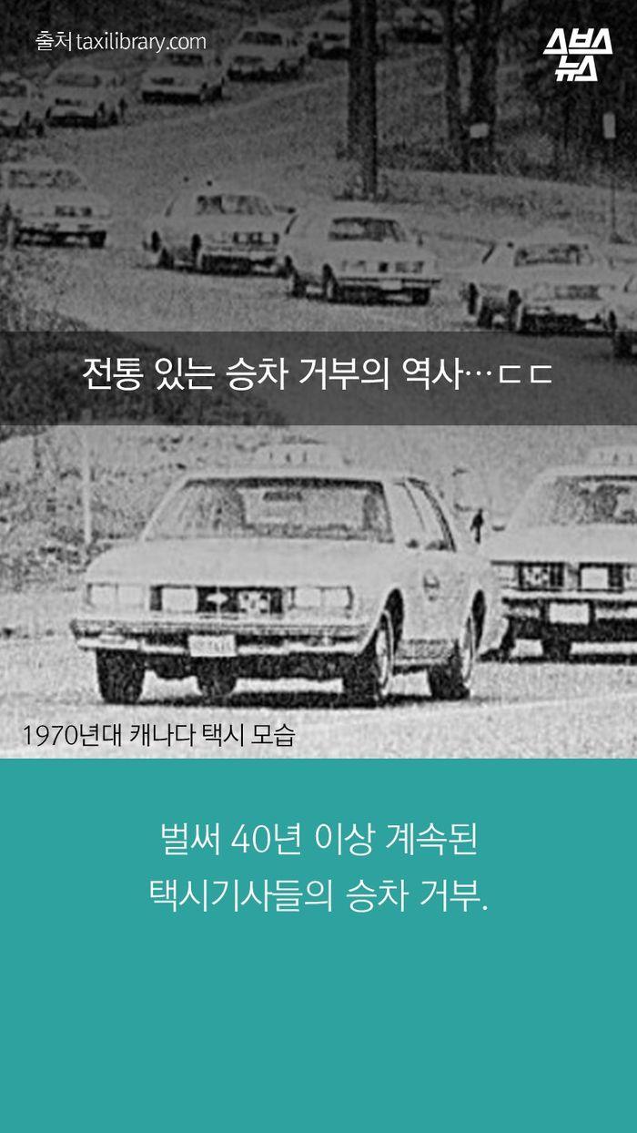 벌써 40년 이상 계속된  택시기사들의 승차 거부.