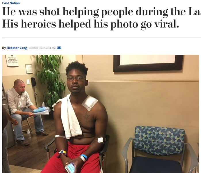 [뉴스pick] 총알 난사하는 현장 속에서 30명 목숨 구한 청년 영웅(사진=워싱턴포스트 캡처)