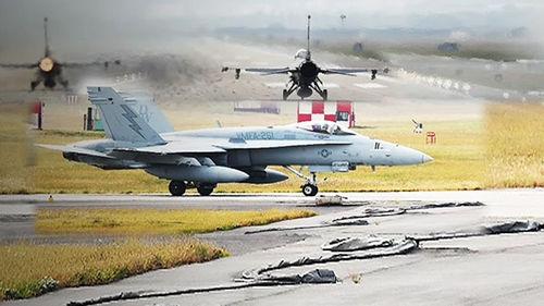 """메인이미지:[단독] 은밀히 한반도 들어온 美 전투기들…""""군사옵션 연습"""""""
