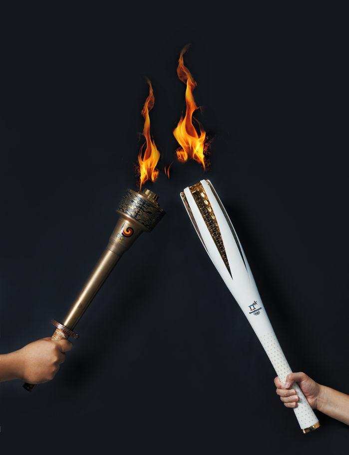 서울올림픽 성화봉과 평창올림픽 성화봉