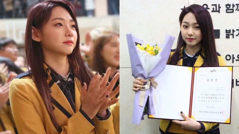 기사 대표 이미지:[SBS Star] MINA from gugudan Cries at Her Graduation Ceremony?