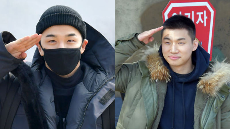 기사 대표 이미지:[SBS Star] VIDEO: TAEYANG & DAESUNG Entering Their Military Base!