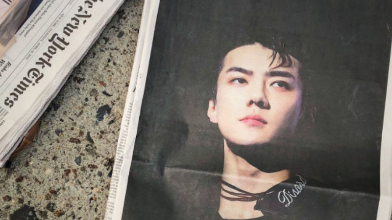 기사 대표 이미지:[SBS Star] EXO SEHUN: The First K-pop Star to Feature on The NYT for a Birthday Celebration