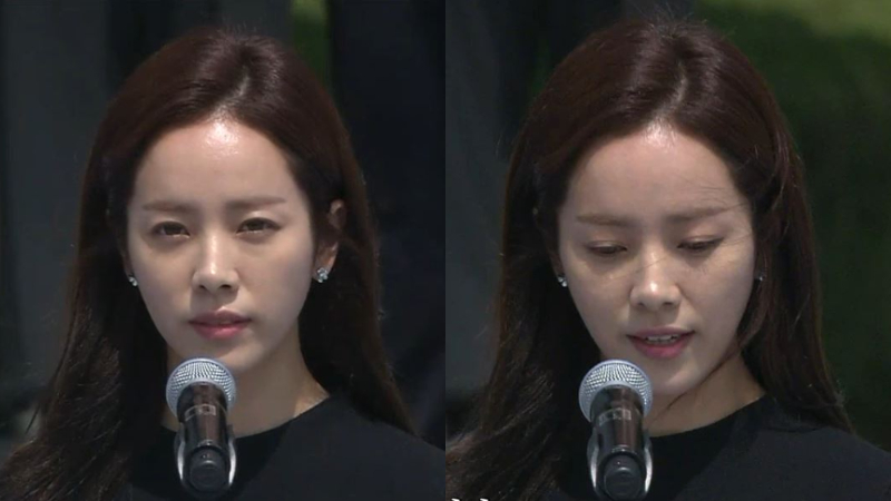 [SBS Star] Han Ji Min Cherishes the Memory of the Deceased at the Ceremony of Memorial Day