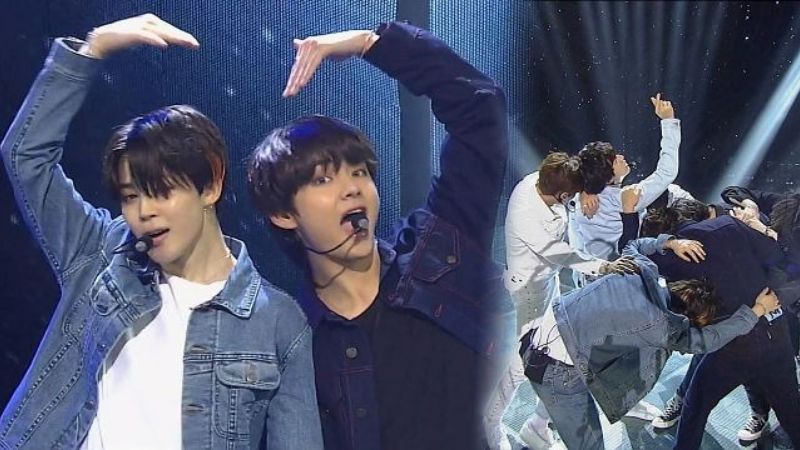 기사 대표 이미지:[SBS Star] VIDEO: BTS Dominates the Stage by Making Hearts for ARMY!