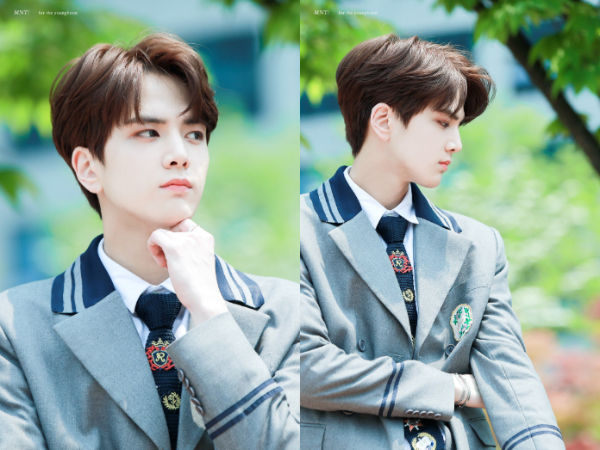 Sbs Star The Boyz Younghoon Shows A Cute Response After Having Eye Contact With A Bee