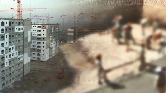 이라크 한화 건설 공사현장
