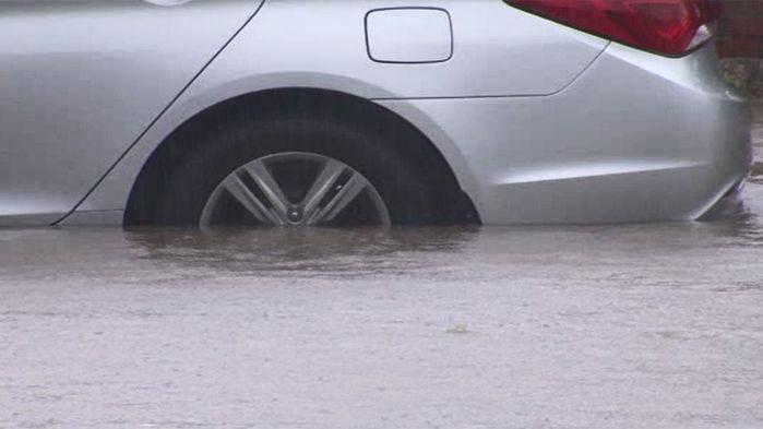폭우에 도로상황