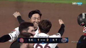 [KBO] '하준호 끝내기' kt, 연장 끝에 SK 2-1 제압하며 50승