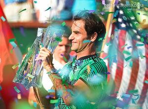 '테니스의 황제' 페더러, BNP 파리바오픈 우승