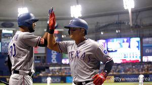 [MLB] 추신수, 2G 연속 안타…TEX, 4연승 중단