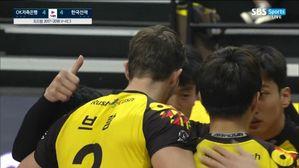 [V리그] OK저축은행, '브람 29점'한국전력에 3-2 신승