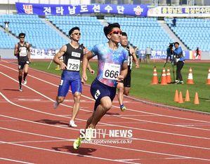 김국영, 전국체전 육상 200m 결선서 '20초90' 우승…2관왕