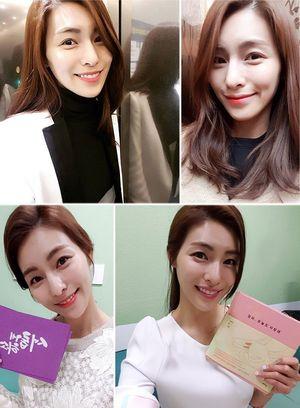 진행자 복귀 김정화, 봄꽃처럼 화사한 봄날의 근황 공개