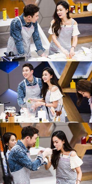 3대천왕 홍수현-블락비 피오, 알콩달콩 커플 요리