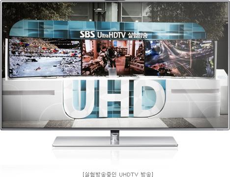 실험방송중인 UHDTV 방송