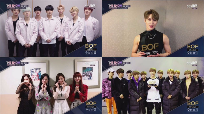 기사 대표 이미지:[SBS Star] VIDEO: BTS·TAEMIN·BLACKPINK·Wanna One Receive Awards at 2017 BOF!