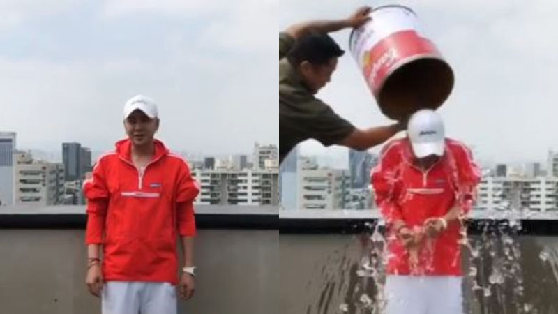 기사 대표 이미지:[SBS Star] Jang Keun Suk Participates in the ALS Ice Bucket Challenge!